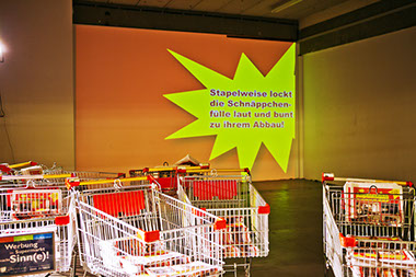 kitchnapping goes shopping is a group project (concept by Birthe Blauth) on the effects of signs.